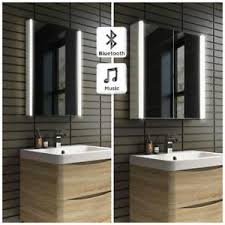 Ebay Bathroom Mirrors Wall Hung Illuminated Led Bathroom Mirror Cabinet With Bluetooth