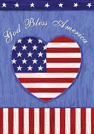Decorative Flags For The Home Amazon Com Toland God Bless The U S Decorative Patriotic