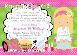 sleepover spa party invitation birthday ideas pinterest