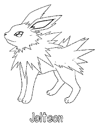 jolteon coloring pages eevee jolteon coloring pages s