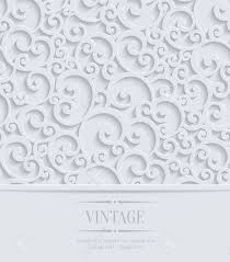3d Invitation Card 3d Floral Wedding Or Invitation Card With Curl Pattern Vector
