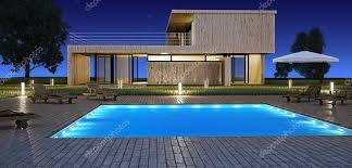 house with pool modern house with pool stock editorial photo jordygraph 4039081