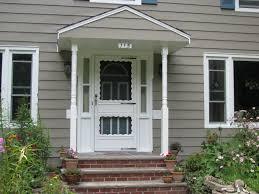 exterior excellent front porch decoration using light grey wood