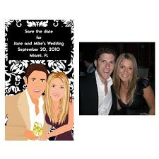 Funny Save The Date Custom Caricature Save The Date Magnets