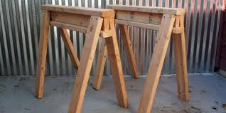 How To Build A Simple Wood Shed by How To Build Stackable Sawhorses