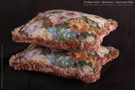 schumacher floral boucle kravet couture mohair velvet pillows