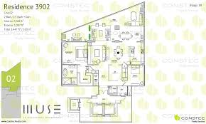 muse residences in sunny isles beach floor plans