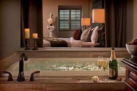 bathroom design decor blue white bathtub furniture and glass
