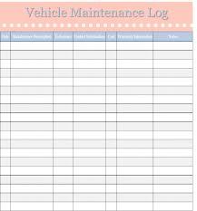 Home Maintenance Spreadsheet by Vehicle Maintenance Log Template Home Management Binder Free