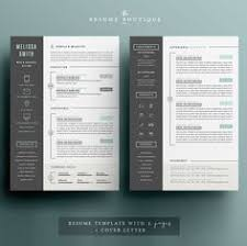 resume template 4 pages cv template cover letter for ms design