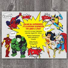 superhero party invitations iidaemilia com