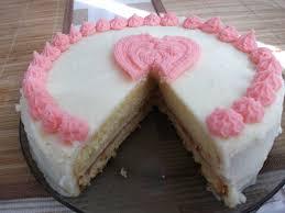 gorgeously moist vanilla cake with white chocolate buttercream