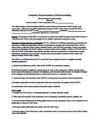 memorandum of understanding download edit fill u0026 print