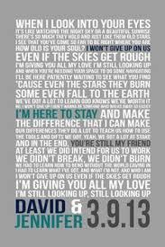 wedding wishes lyrics wedding lyrics song print 11x14 personalized wedding poster