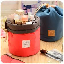 makeup travel bag images Online cheap women lady pouch bucket barrel shaped cosmetic makeup jpg