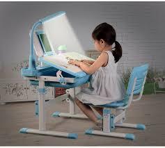 Kid Study Desk Table Chair Children Study Desk School Desk Height Adjustable