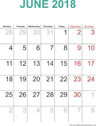 june 2018 calendar template monthly calendar 2017