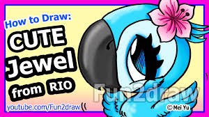 how to draw a jewel from rio fun2draw youtube