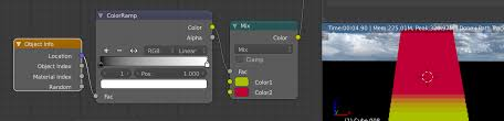 texturing how can i change a set of objects colour transition