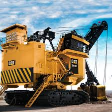 cat 7495 mining shovel which was a 495 bucyrus erie cat mining