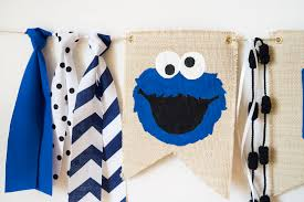 cookie monster table decorations cookie monster 1st birthday high chair banner cookie monster party