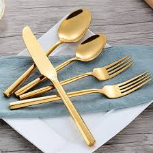 Modern Silverware by Ghata 20 Pieces Modern Flatware Set Service 4 Compare To Oneida