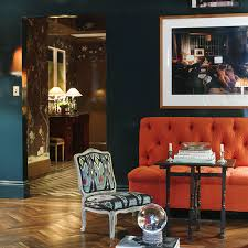 dark blue paint colors eclectic living room farrow and ball