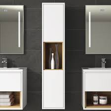 tall bathroom cabinets white gloss home design inspirations