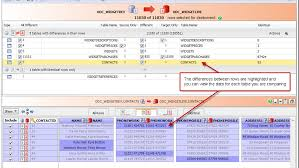 sql compare two tables for differences compare and synchronize oracle table data data compare for oracle