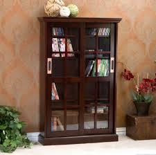 dvd storage glass door dvd storage cabinet with brown living room espresso and