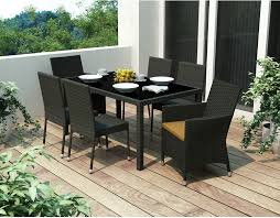 park terrace piece patio dining set black the brick furniture