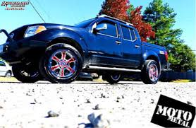 2000 nissan frontier custom nissan frontier moto metal mo969 wheels chrome red accents