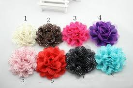flowers for headbands baby chiffon lace flowers diy fabric flower for kids