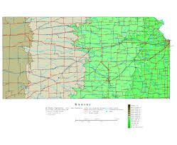 usa map kansas state road map of us states and cities