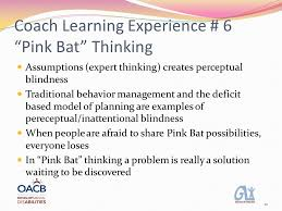 Inattentional Blindness Example 1 Presented By Coach Learning Experience 6 Problems As