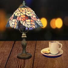 Wohnzimmer Tisch Lampe Beleuchtung Tischleuchten Tiffany Tischlampe D20cm Bunte
