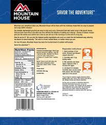 Mountain House Food Mountain House Scrambled Eggs With Bacon Amazon Co Uk Sports