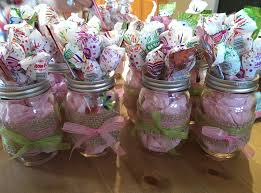 mason jars baby shower center pieces baby girls