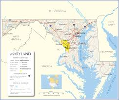 Road Map Of Usa States by Maryland Map Maryland State Map Maryland Road Map Map Of Maryland