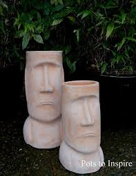 terracotta easter island garden ornament woodside garden