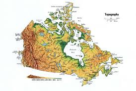 Topical Map Of United States by Canada Topographic Mapfree Maps Of North America