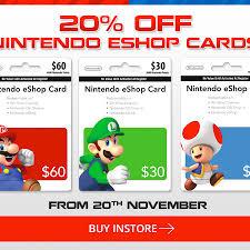 nintendo eshop gift card bargain alert 20 nintendo eshop cards at eb 3ds