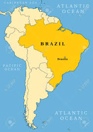 Country Map Of South America by Brazil Locator Map Country And Capital City Brasilia Map Of