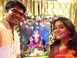 home decoration of ganesh festival marathi actor actress ganpati festival celebration photos 2015