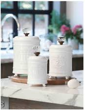 white kitchen canisters decorative kitchen canisters ebay