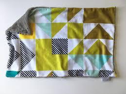 gray green mint geometric lovey gray baby lovey security blanket