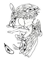 angel tattoo falling or fallen angel design free flash