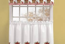 Tuscan Valance Curtains Graceful Red Kitchen Curtains Walmart Notable Red