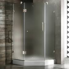 36 Shower Doors Vigo 36 X 36 Frameless Neo Angle Frosted Chrome Shower Enclosure