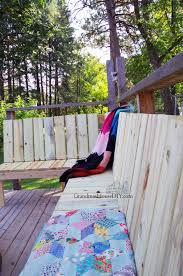 Grandma Backyard House Outdoor Bench For Our Deck Diy Wood Working Project Tutorial